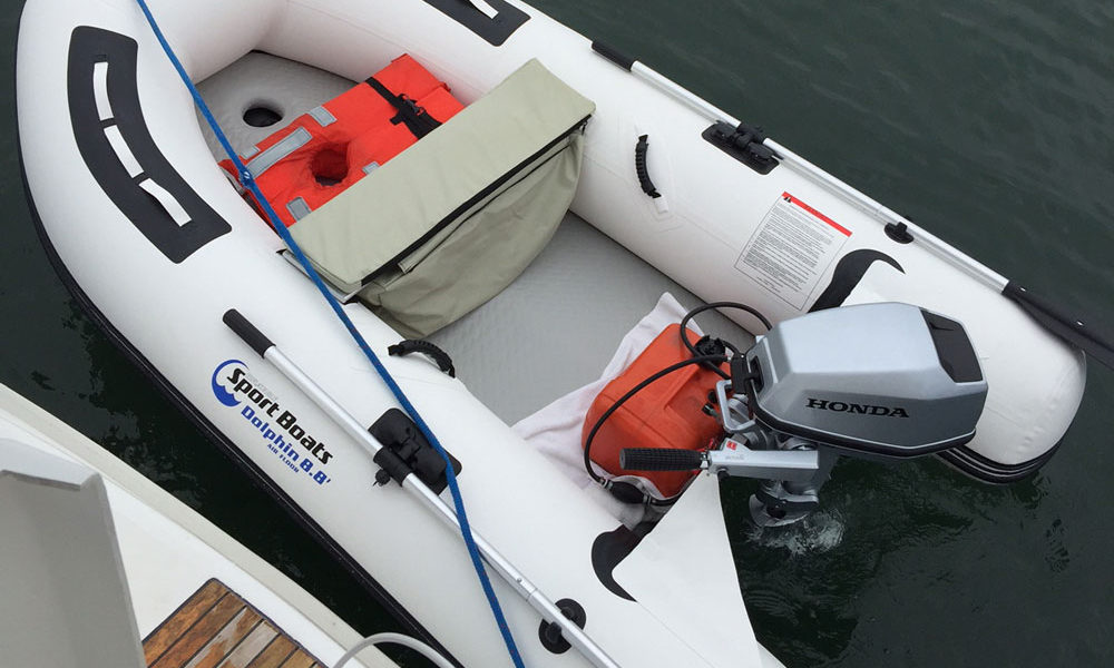 Dolphin dinghy with honda motor