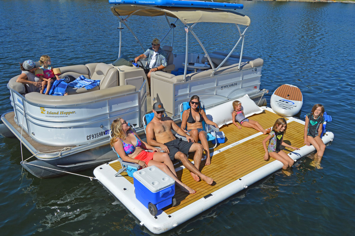 Inflatable Sport Boat Inflatable Patio Dock Floating ...
